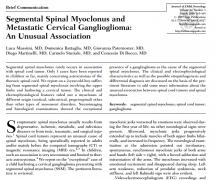 节段性脊髓肌阵挛与转移性颈神经节胶质瘤:一种不寻常的关联