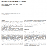 世界神经外科学院前主席James Rutka教授:儿童癫痫手术影像